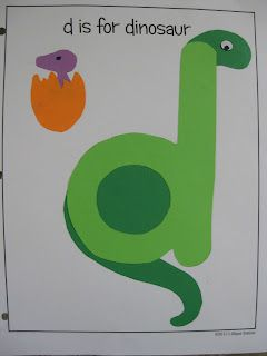 D is for Dinosaur {free printable}