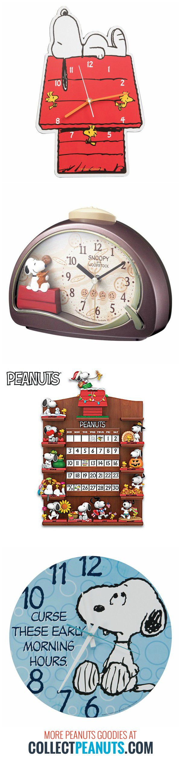 Happy New Year! Keep track of the passing time with Snoopy and Peanuts clocks, watches and perpetual calendars. Save time by shopping our round-up at CollectPeanuts.com.