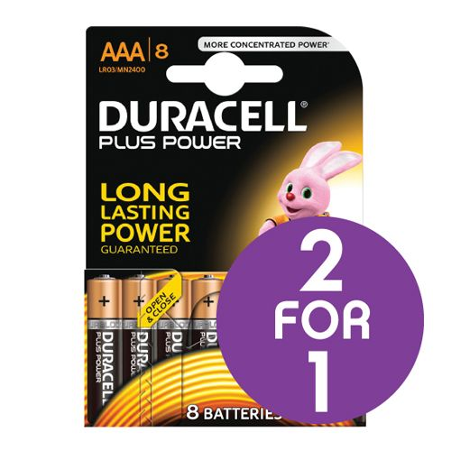 Duracell Plus Power 2 for 1 Brilliant partner -AAA Batteries