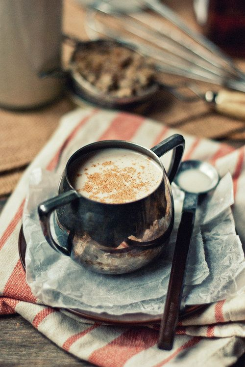 Warm Coconut Milk w/ Hazelnuts, Honey & Bourbon.: