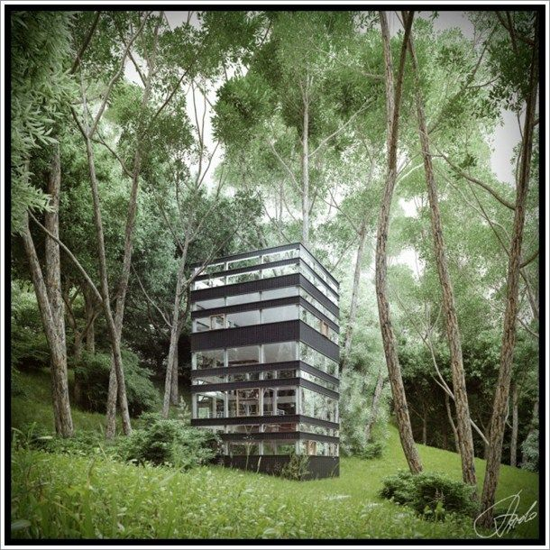The Ring House, By Takei Nabeshima Architects (TNA). Three Floors On A Nice Ideas