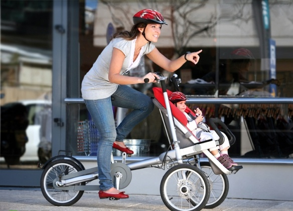 A fabulous invention!Bicycles, Baby Strollers, Taga Bikes, Complete Awesome, Baby Stoller, Kids, Products, Travel Gadgets, Baby Stuff