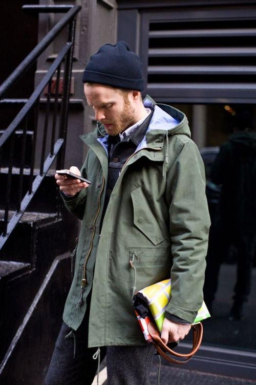 2015-01-13のファッションスナップ。着用アイテム・キーワードはウールパンツ, ニットキャップ, バッグ, ミリタリージャケット, Gジャン・デニムジャケット,etc. 理想の着こなし・コーディネートがきっとここに。  No:83228
