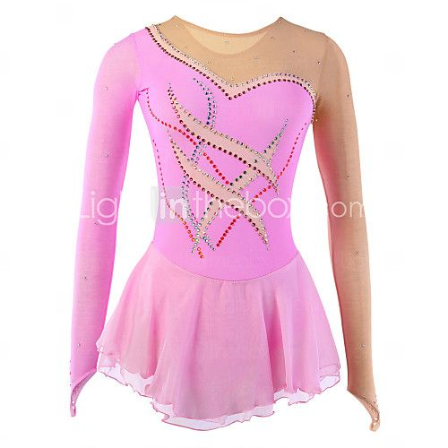 Ice Skating Dress Women's / Girl's Long Sleeve Skating Skirts & Dresses Figure Skating DressBreathable / Softness / Stretch / 2017 - S$87.64