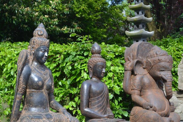 Ganeshabeeld, hindoe Dewi, Boeddhabeeld lavasteen, handgemaakt