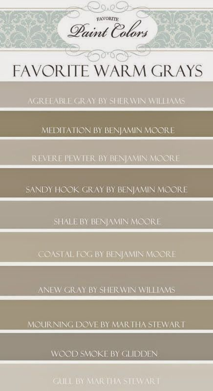 kensington bliss: Favorite Gray/Brown/Taupe Paint Colors...