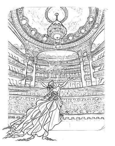 Coloring Opera Pages Phantom Christine