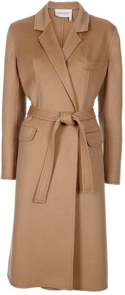 Yves Saint Laurent Camel Coat...timeless classic