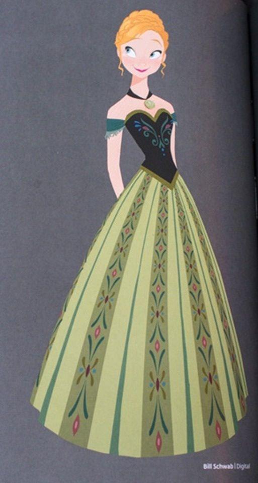 Disney Concept Art - Princess Anna  Brittney Lee