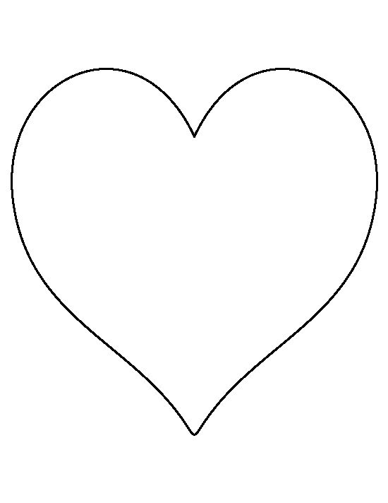 8 inch heart pattern. Use the printable outline for crafts, creating stencils, scrapbooking, and more. Free PDF template to download and print at http://patternuniverse.com/download/8-inch-heart-pattern/