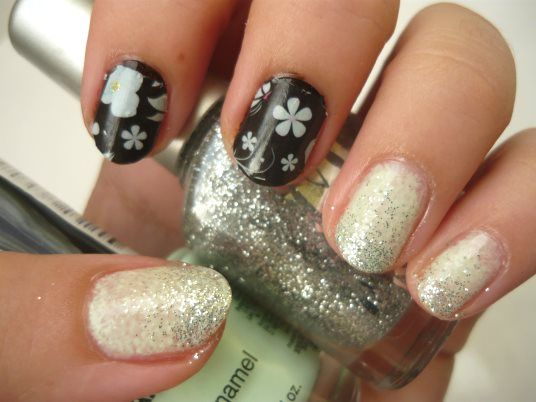 Nail Of The Day Black and... Mint  - feat Born Pretty Store   http://www.mybeautykiss.ro/NOTD25_BlackAndMint.php