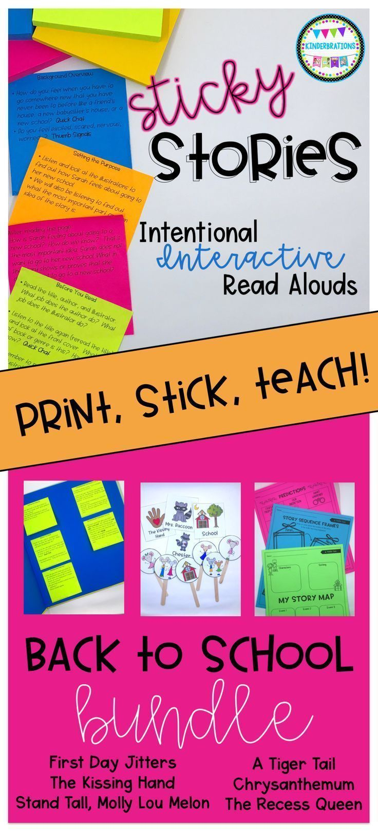 Sticky Stories- Intentional Interactive Read Alouds- Back to School ...