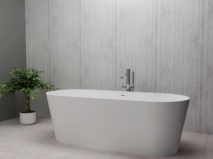 Free-standing bathtub / oval / Solid Surface BS-S07 Bella Stone Company Limited 1700 x 700