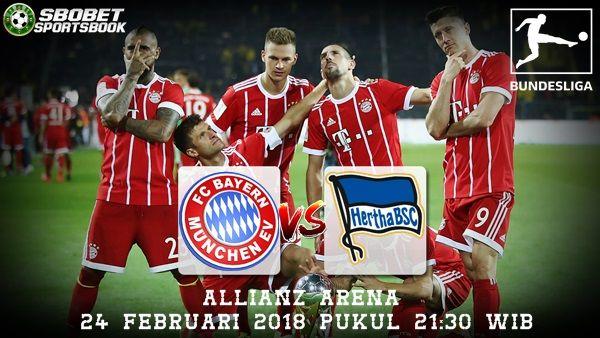 Prediksi Bayern Munchen vs Hertha BSC 24 Februari 2018     Prediksi Bayern Munchen vs Hertha BSC 24 Februari 2018 - Pada kesempatan kali ...