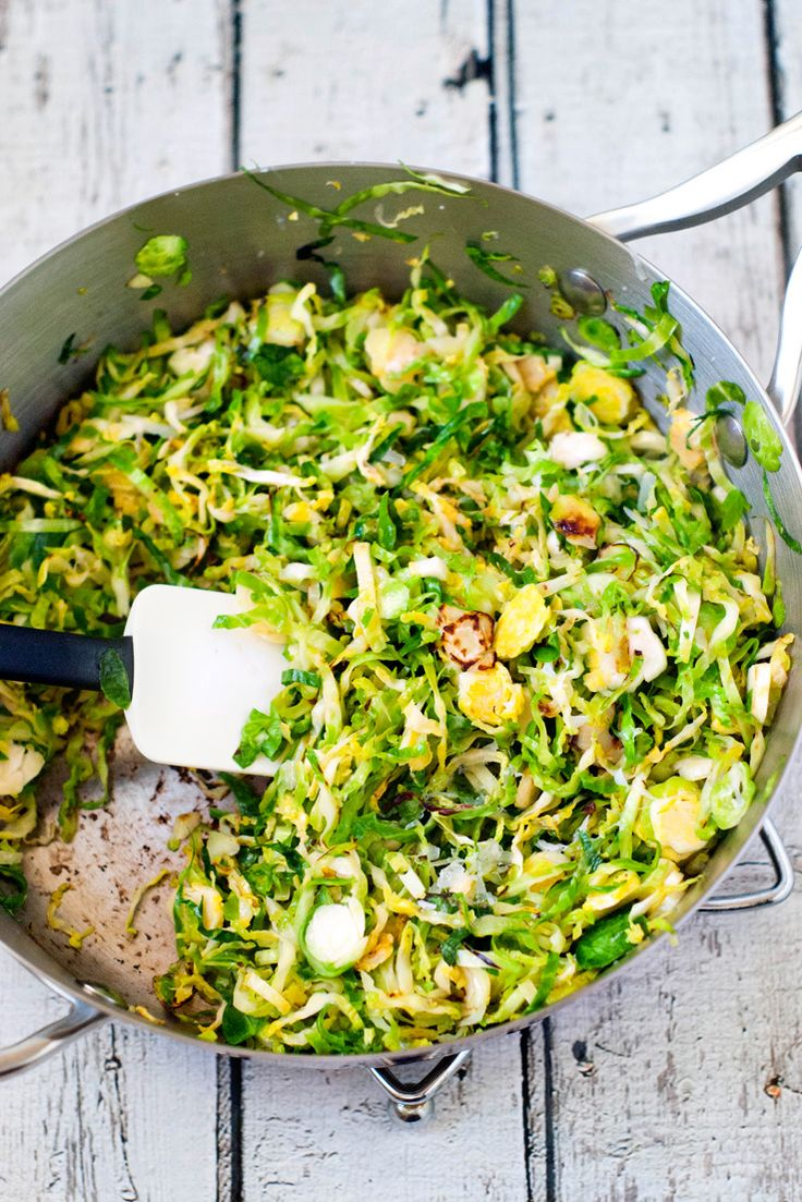 Shaved Brussel Sprouts Saute by heatherlikesfood #Brussel_Sprouts
