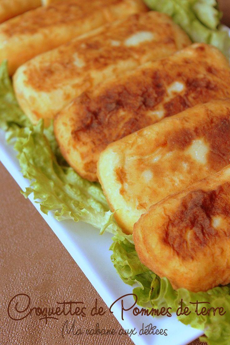 Croquettes de pommes de terre en friteuse