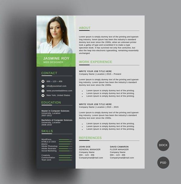 50 Free Resume Templates Best Of 2018 1 Cv Resume Template Resume Template Professional Free Resume Template Download
