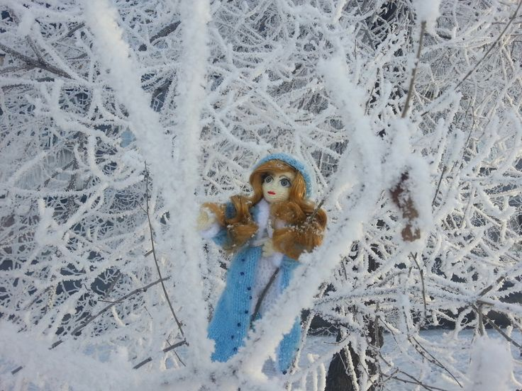 Snow girl  #doll #crochet #withlove #snow #amiguru