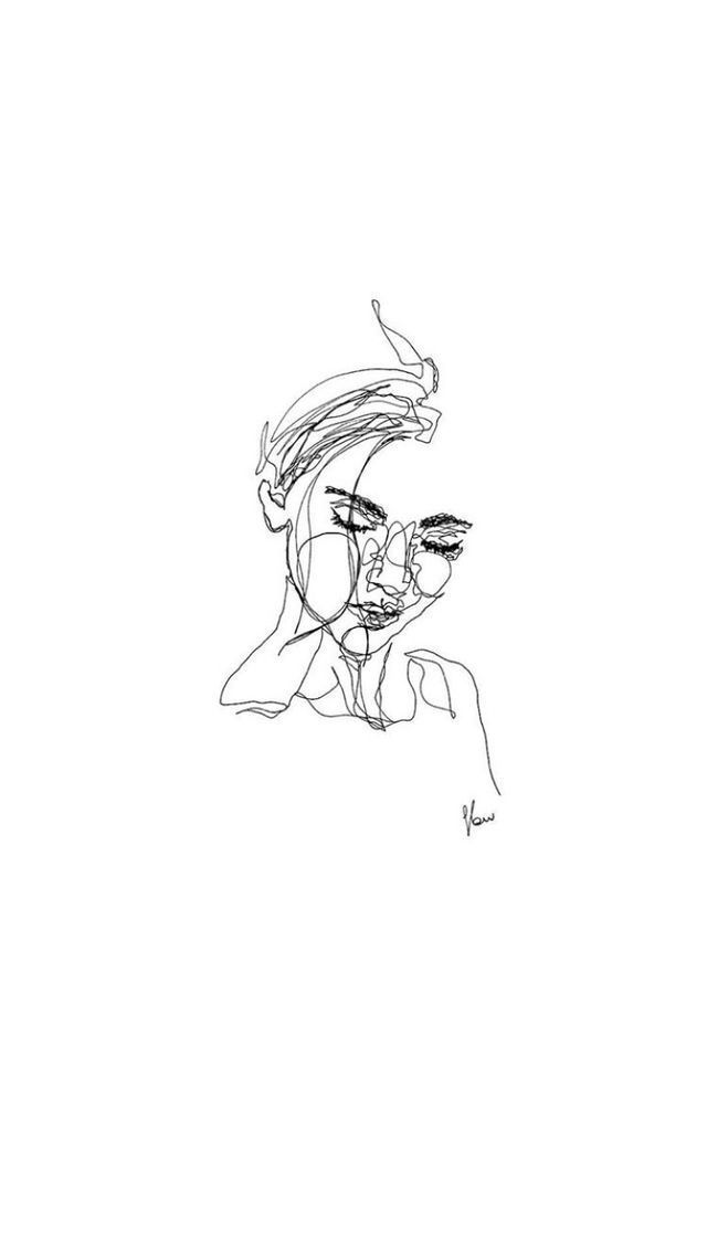 Illustration Of A Woman S Face Line Art Drawings Minimalist Art Line Art