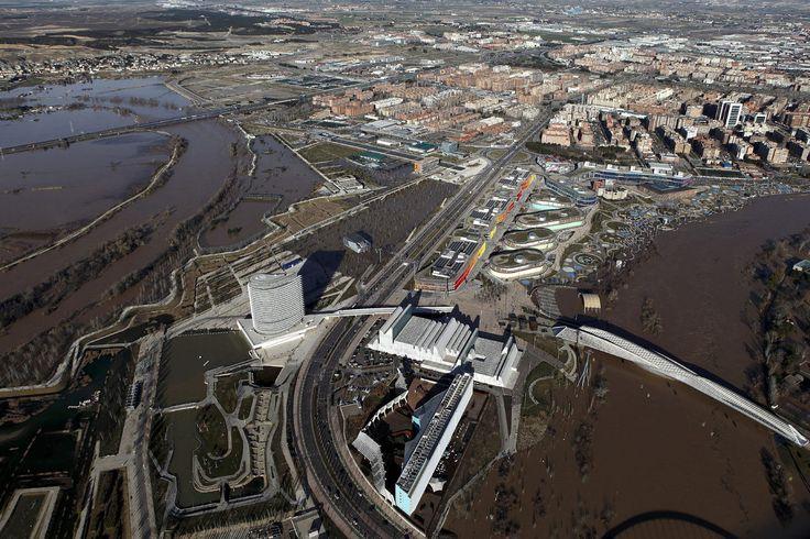 Las impresionantes fotos aéreas de la crecida del Ebro