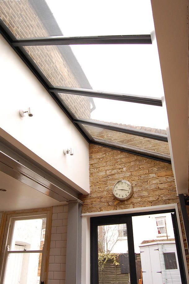 side extension roof solution - glass panels