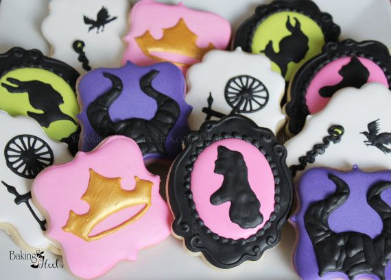 Sleeping Beauty Inspired Decorated Cookies by Bakinginheels
