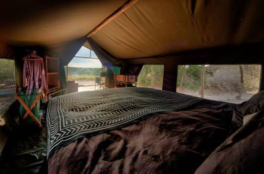 Tented room at Meno a Kwena Camp  (Makgadikgadi Pans, Botswana). Looks like a place you wanna go? Just let us know: info@gondwanatoursandsafaris.com