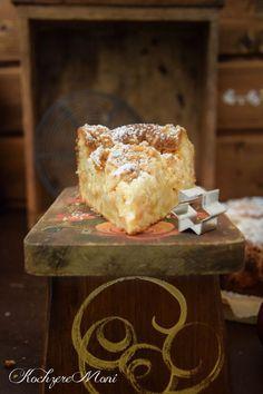 Apfel Mandel Kuchen mit Lebkuchenstreuseln