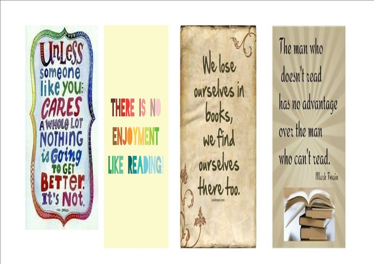 Bookmarks with inspirational, encouraging quotes. I made these to ...