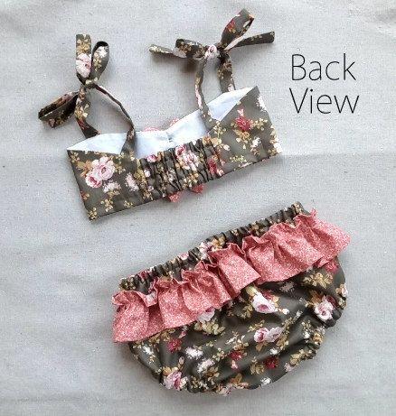 Gidget Girl's Bikini Sewing Pattern. Retro by RubyJeansCloset