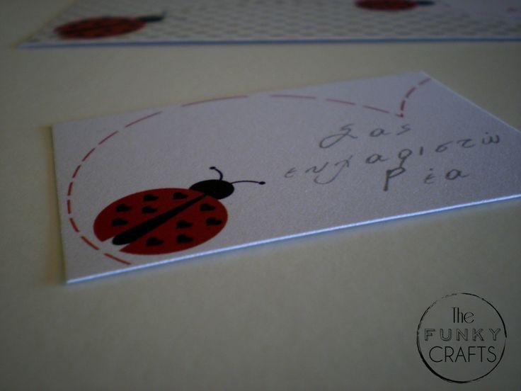 Ladybug thank you note!