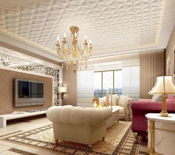 ceiling design with flower-like pattern