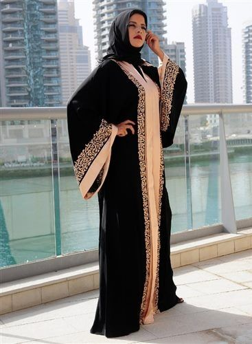Latest Dubai Designer Abaya Gowns Designs Collection 2015-2016 (11)