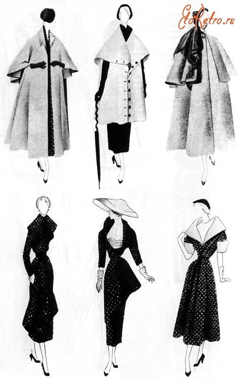 Ретро мода - Модельер Кристиан Диор 1949 г.