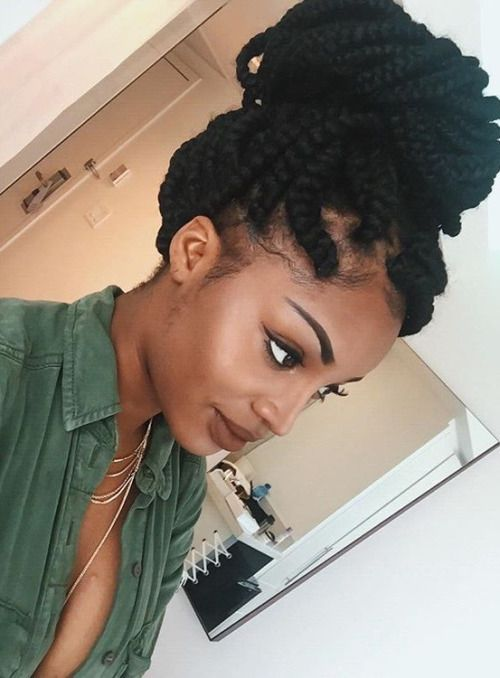 ***Try Hair Trigger Growth Elixir*** ========================= {Grow Lust Worthy Hair FASTER Naturally with Hair Trigger} ========================= Go To: www.HairTriggerr.com ========================= Super Cute Jumbo Box Braided Top Bun!