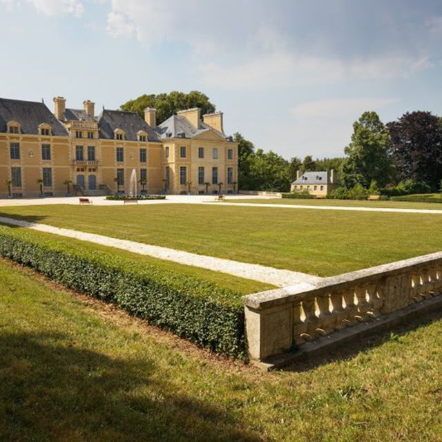 view of the chateau and part of the park. Normandy, north of France  #luxuryhouse#luxurylife#luxuryliving