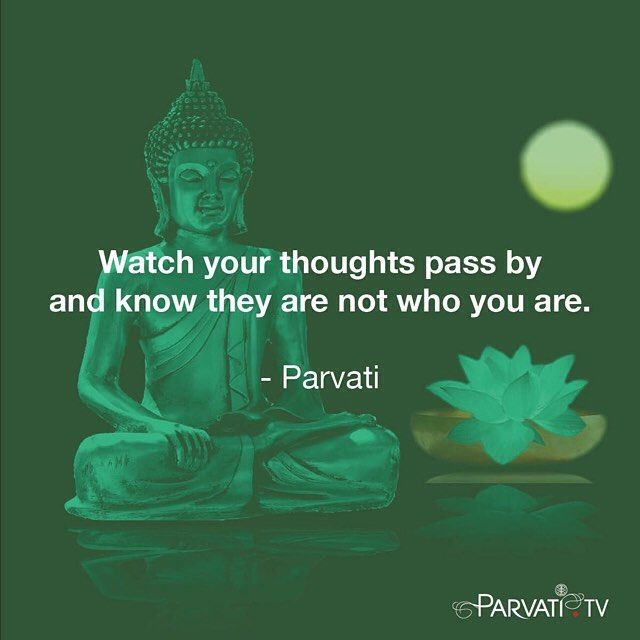 """Watch your thoughts pass by and know they are not who you are. Read on in my blog this week """"LOVE THE BLUE BUDDHA: Disarm the Ego and Return to Love through Witnessing"""" - link in bio."""