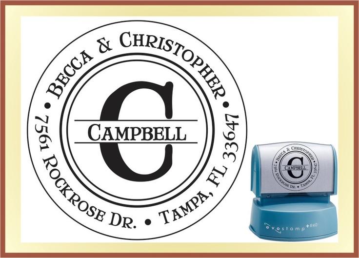 Monogram Return Address Stamp - Dot Spacing - Custom Family Self Inking Stamp. $27.95, via Etsy.Ink Stamps, Monograms Returns, Stamps Dots, Returns Address Stamps, Gift, Custom Families, 27 95, Dots Spaces, Spaces Custom
