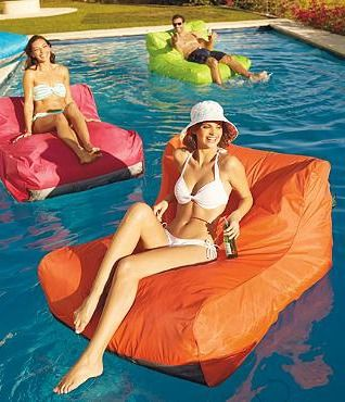 he Sit-In Pool Float brings together the plush luxury of a lounge chair with the resilience of a high-end pool float for an experience that may just be the best way to relax.