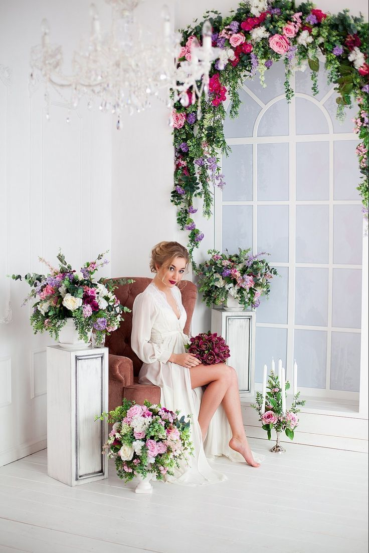 Цветочное утро прекрасной невесты Лизы