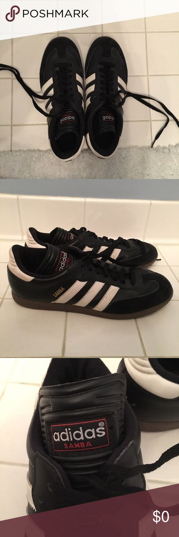 Adidas Samba Trainers SIZE 7 Mens, SIZE 9 Womens •has few scuffs • mint condition• Adidas Shoes Sneakers