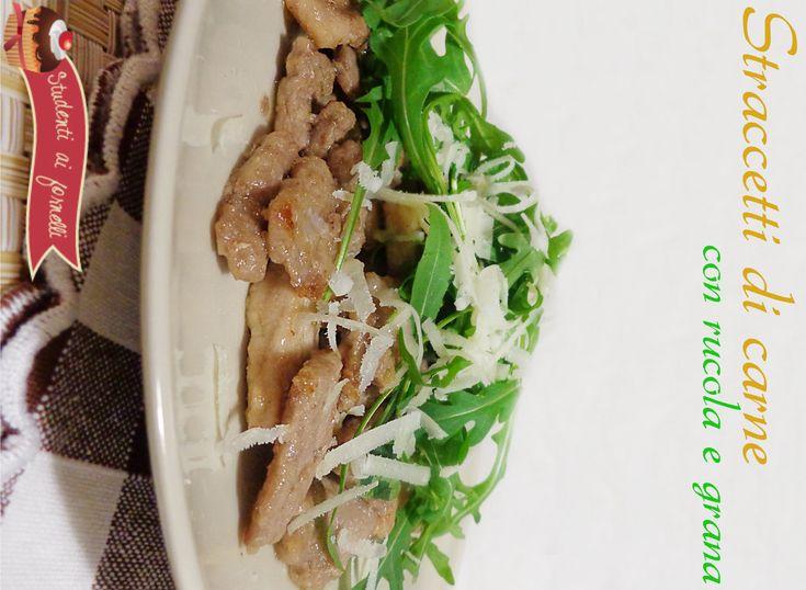 straccetti di carne con rucola e grana ricetta secondo con vitello