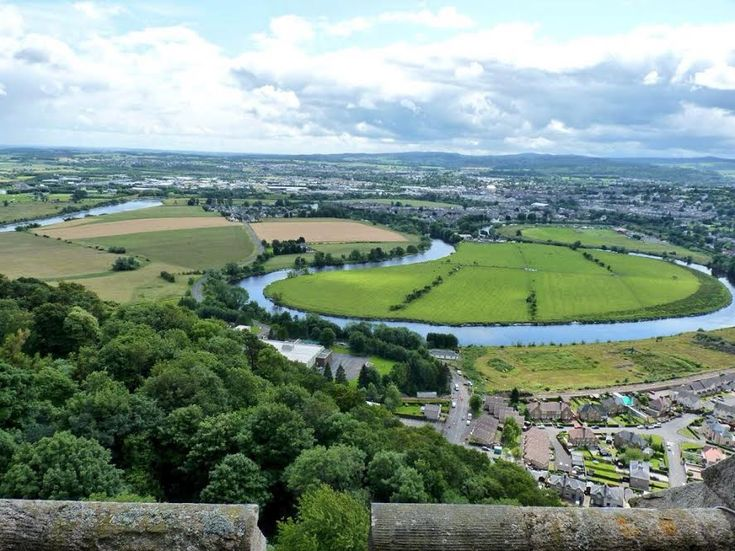 View from the Wallace Monument. Look out for Stirling Castle, perched on another…