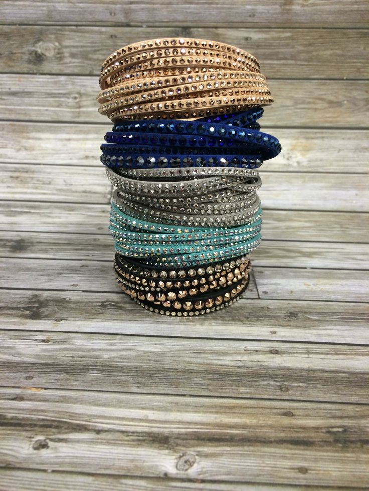 Sparkles are the BEST gifts! Swarovski Slake Bracelets come in many colors and are the perfect way to add some fancy to our outfits. #swarovski #bracelets #shine