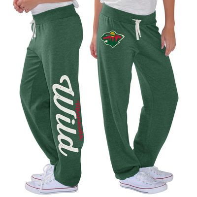 Women's Minnesota Wild G-III 4Her by Carl Banks Green Scrimmage Sweatpants