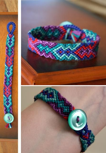 Friendship bracelet in bright colors