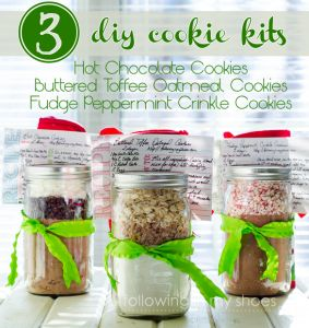 3 DIY Gift Giving Cookie Mix Kits With Free Printables