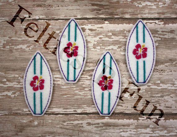 Tabla de surf Felties bordados fieltro Applique playa