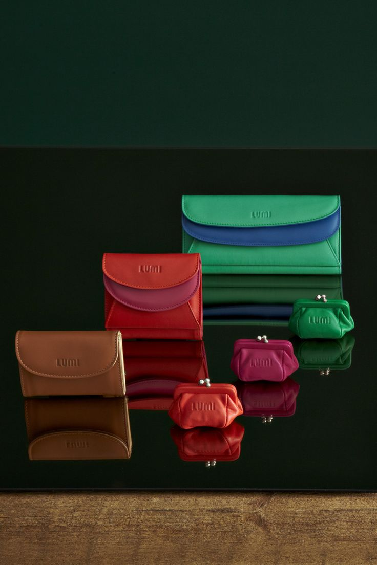 Vivid Line: Åsa Card Wallet, Viivi Trifold Wallet, Sylvi Maxi Trifold, Aurora Coin Purse, Kira Clutch Purse #LUMIFW13collection