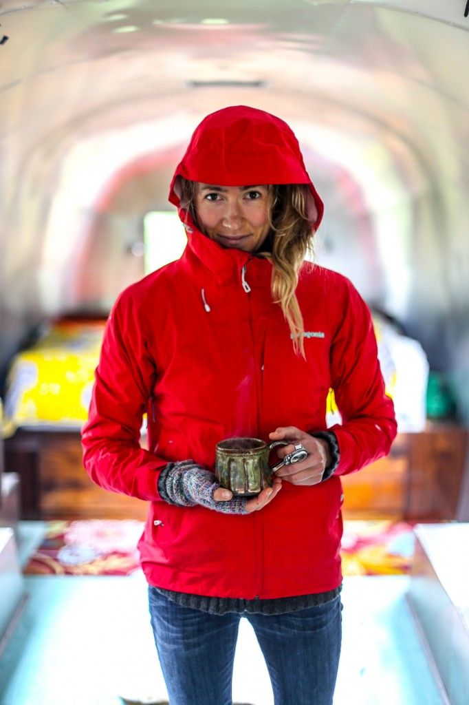 Red anorak. Gloves.                                                                                                                                                                                 More